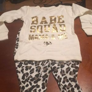 6-9 month mama and me pajamas